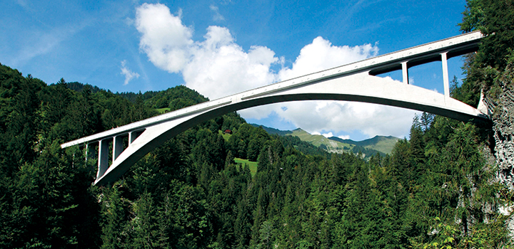 Salginatobel Bridge by Robert Maillart, Schiers, Switzerland. Photo by Rama, Wikimedia Commons, Cc-by-sa-2.0-fr.