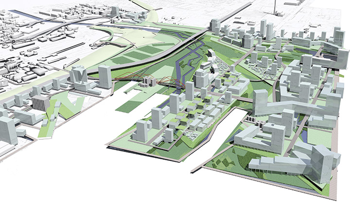 Competition proposal for the Lower Don Lands project in Toronto by Stoss.
