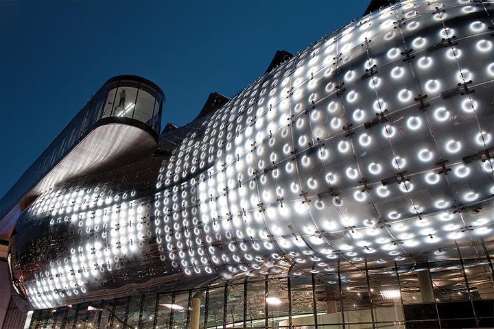 Graz Art Museum media façade, Graz, Austria.