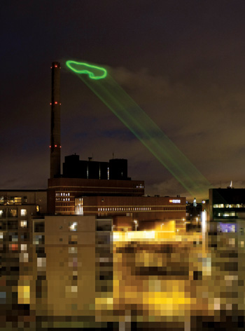 Green Cloud (Nuage Vert), Helsinki, by HeHe.