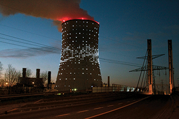 "Interactive Power Station ""Shooting Star"" project, Brussels."